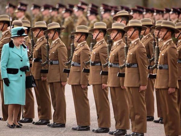Гвардейцы британской армии